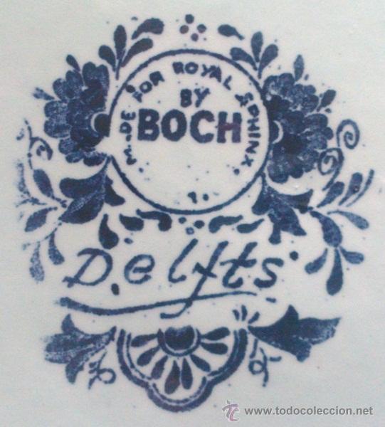 Antigüedades: ANTIGUO PLATO PORCELANA DELFT (BOCH) BÉLGICA - Foto 9 - 54755818