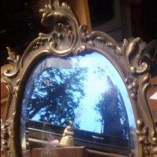 Antigüedades: ANTIGUO ESPEJO DE TOCADOR EN BRONCE CRISTAL BISELADO AÑO 1870 LUIS XV 152,00 €. Lote 54768529
