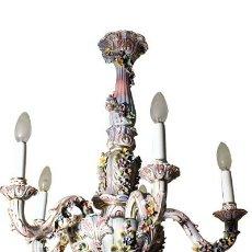 Antigüedades: LAMPARA-DE-TECHO-DE-PORCELANA. Lote 54771475
