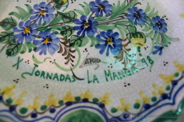 Antigüedades: bandeja en ceramica de lario (up x jornadas la manga 98) - Foto 3 - 54776467