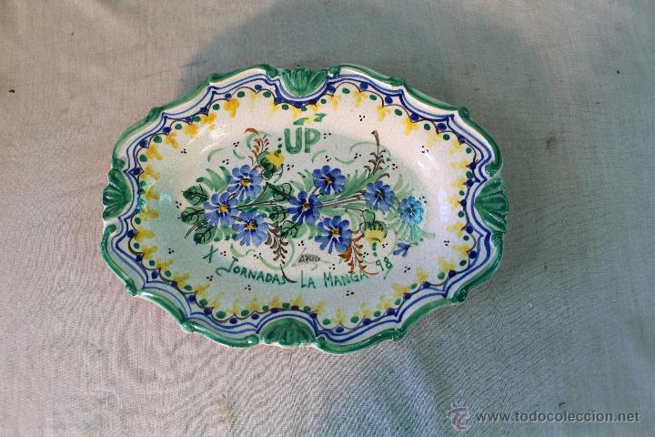 Antigüedades: bandeja en ceramica de lario (up x jornadas la manga 98) - Foto 5 - 54776467