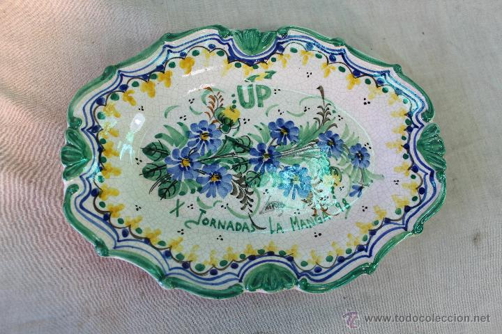 Antigüedades: bandeja en ceramica de lario (up x jornadas la manga 98) - Foto 6 - 54776467