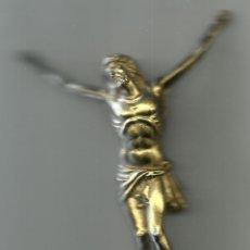 Antigüedades: ANTIGUO CRISTO DE BRONCE DE 15 CM DE LARGO POR 9 CM DE ANCHO. Lote 54780256