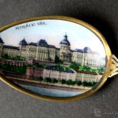 Antigüedades: CUCHARILLA SOUVENIR. BUDAPEST. PLATA 800 VERMEIL. PUNZONADA. FRANCIA(?). XIX-XX. Lote 54345393