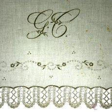 Antigüedades: JUEGO DE CAMA INDIVIDUAL. ALGODÓN FINO BORDADO. ENCAJE MANUAL. ESPAÑA.CIRCA 1940. Lote 54630048