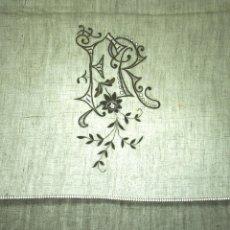 Antigüedades: JUEGO DE CAMA DE MATRIMONIO. LINO. BORDADOS A MANO. ENCAJE BOLILLOS. ESPAÑA.XIX.. Lote 53856363