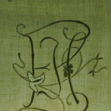 Antigüedades: PAREJA DE FUNDAS DE ALMOHADA. LINO FINO BORDADO A MANO. ESPAÑA. XIX.. Lote 54226569