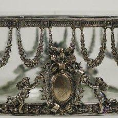 Antigüedades: JARDINERA IMPERIO EN CRISTAL Y METAL PLATEADO. EUROPA. SIGLO XIX.. Lote 84929544