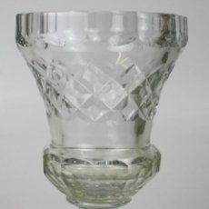 Antigüedades: JARRÓN DE CRISTAL TALLADO. VAL LAMBERT. BELGICA. SIGLO XIX.. Lote 53319462