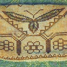 Antigüedades: PEQUEÑO BOLSITO DE DAMA. SEDA Y ABALORIOS. ESPAÑA. CIRCA 1900.. Lote 52730155