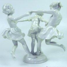 Antigüedades: DANZA DE MAYO. PORCELANA. KARL TUTTER. HUTSCHENREUTER. ALEMANIA. CIRCA 1950.. Lote 51336351
