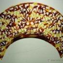 Antigüedades: PEINETA EN SÍMIL CAREY TALLADO A MANO. ESPAÑA. CIRCA 1950. Lote 51579324