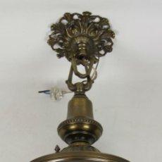 Antiquitäten - FANAL EN BRONCE Y LATON. CRISTAL VISELADO Y TALLADO. 1º MITAD SIGLO XX. - 51580584