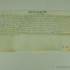 Antigüedades: DO-006 - BULA PAPAL DE PIUS VII Y 4 SOLICITUDES DE BULAS.PERGAMINO. PAPEL. ROMA 1801.. Lote 50424837