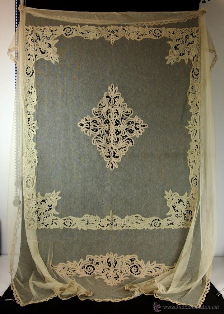 Conjunto de cubrecama y dos cortinas encaje so comprar for Cortinas espana