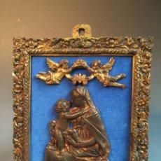 Antigüedades: PLACA DEVOCIÓNAL DE BRONCE SIGLO XVI - XVII