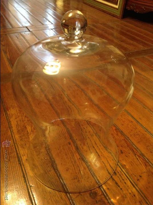 TULIPA PARA FAROL GRANDE CRISTAL URNA 45*30 (Antigüedades - Iluminación - Otros)