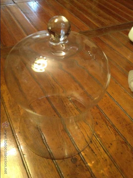 Antigüedades: TULIPA PARA FAROL GRANDE CRISTAL URNA 45*30 - Foto 2 - 54801713