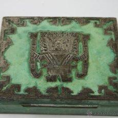 Antigüedades: CAJA. COBRE Y PLATA MEXICANA 925. ESMALTADO. MEXICO. SIGLO XX. Lote 50212917