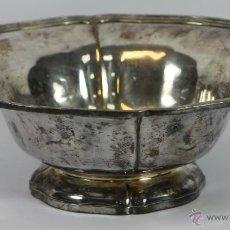 Antigüedades: CENTRO DE MESA EN METAL PLATEADO. AÑOS 40.. Lote 49339856