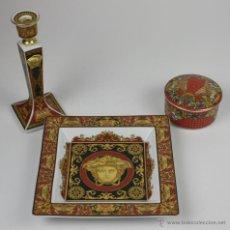 Antigüedades: SET DE 3 ARTÍCULOS - VERSACE. MEDUSA. ROSENTHAL. LE REVE DE NOEL. ALEMANIA.. Lote 49424109