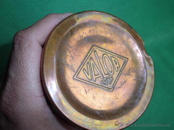 Antigüedades: Elegante botella agua caliente calientacamas termo metal calienta camas cobre y latón principios XX - Foto 3 - 54808255