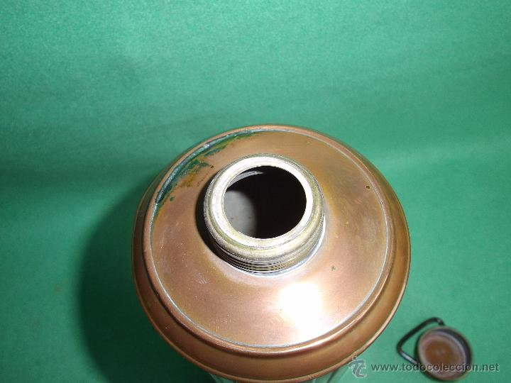 Antigüedades: Elegante botella agua caliente calientacamas termo metal calienta camas cobre y latón principios XX - Foto 4 - 54808255
