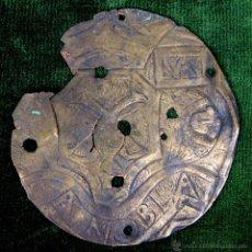 Antigüedades: RELIEVE EN BRONCE REPUJADO. CINCELADO. ESTILO ROMÁNICO(?) ESPAÑA. XII-XIII (?).. Lote 49023133