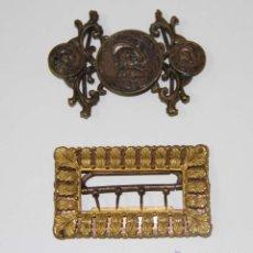 Antigüedades: LOTE DE 2 HEBILLAS. METAL. ESPAÑA. SIGLO XIX. Lote 49070287