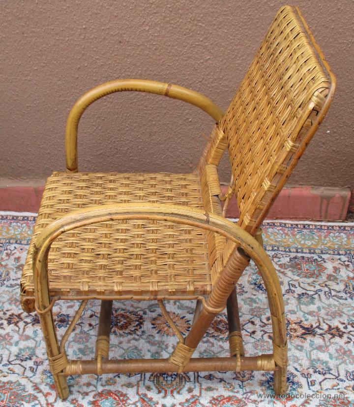 Antigüedades: SILLON DE NIÑO, NIÑA, DE MIMBRE - Foto 2 - 54808737