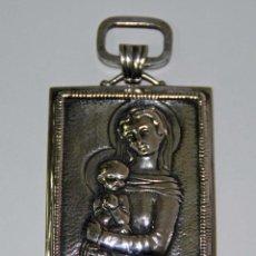 Antigüedades: MR008 MEDALLA DE LA VIRGEN CON EL NIÑO. PLATA. FRANCIA. PRINC. S. XX. Lote 48190601