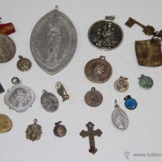 Antigüedades: MR046 LOTE DE 20 MEDALLAS RELIGIOSAS. DIFERENTES MATERIALES. ESPAÑA. SS. XIX-XX. Lote 48313754