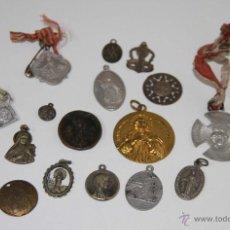 Antigüedades: MR067 LOTE DE 20 MEDALLAS RELIGIOSAS. DIFERENTES MATERIALES. ESPAÑA. SS. XIX-XX. Lote 48313902