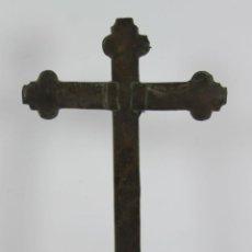 Antigüedades: CRUZ ORTODOXA. MADERA LAMINADO EN BRONCE. SIGLO XVIII-XIX.. Lote 48492634