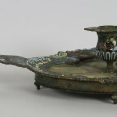 Antigüedades: PALMATORIA DE SOBREMESA. METAL Y CLOISONNÉ. SIGLO XIX. Lote 48565574