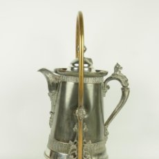 Antigüedades: CHOCOLATERA . METAL BAÑADO EN PLATA. SIMPSON, HALL, MILLER AND CO. CIRCA1890. Lote 47000877