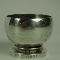 Antigüedades: SALERO O HUEVERA. PLATA. GEORGE JENSEN PYRAMIDE DESSIN HN (HARALD NIELSEN) 585. Lote 47405144