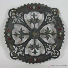 Antigüedades: CORONA DE PLATA. PIEDRAS ENGARZADAS. ESTILO NEO GOTICO. CIRCA 1870.. Lote 48016510