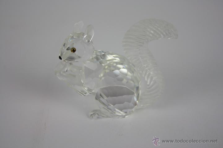 ARDILLA EN CRISTAL DE SWAROVSKI . MED S XX. (Antigüedades - Cristal y Vidrio - Swarovski)