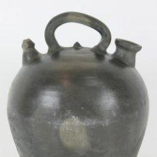 Antigüedades: BOTIJO. CERAMICA NEGRA. QUART? SIGLO XIX-XX.. Lote 84291591