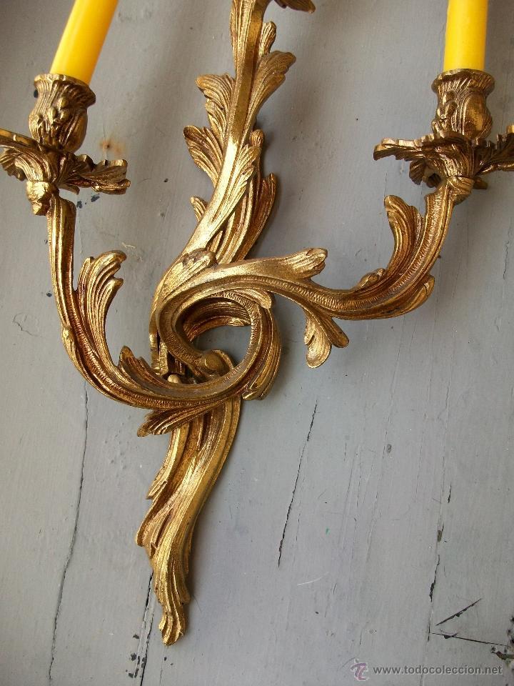 Antigüedades: Apliques estilo Luis XV, estilo rococo,barroco. - Foto 4 - 54824673