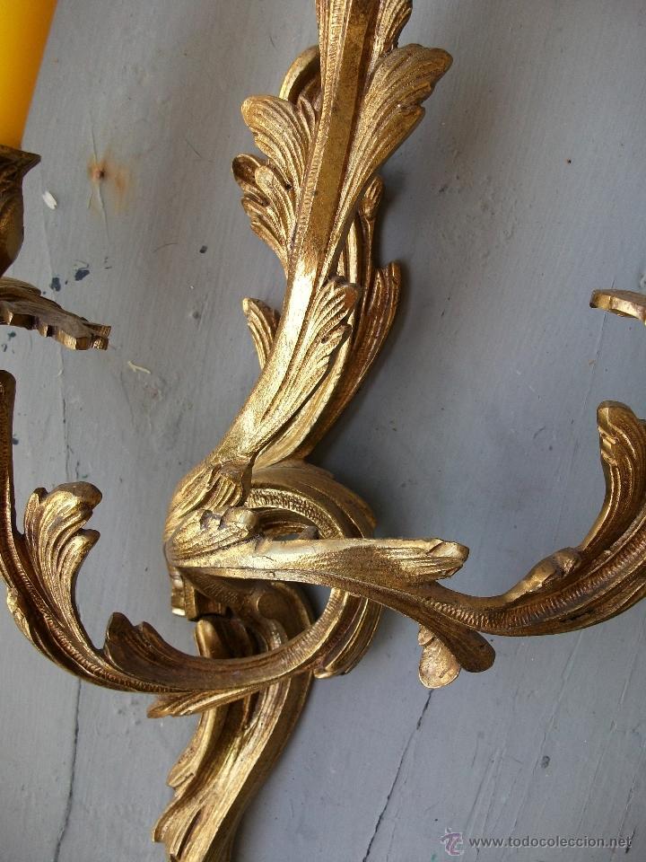 Antigüedades: Apliques estilo Luis XV, estilo rococo,barroco. - Foto 5 - 54824673