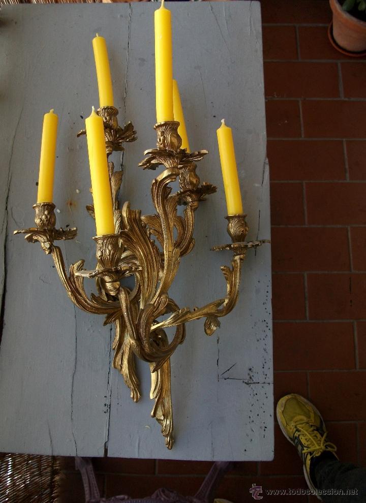 Antigüedades: Apliques estilo Luis XV, estilo rococo,barroco. - Foto 6 - 54824673