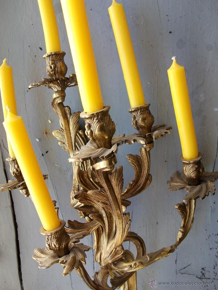 Antigüedades: Apliques estilo Luis XV, estilo rococo,barroco. - Foto 8 - 54824673