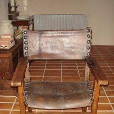 Antigüedades: SILLÓN FRAILERO. NOGAL. RESTAURADO.. Lote 54826928