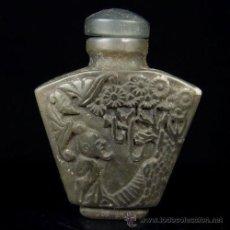 Antigüedades: ANTIGUO CHINO CHINA PERFUMERO DE JADE DE HEITIAN, SIGLO XIX DE GRAN CALIDAD, ANCIANO Y ARBOLES. Lote 54831264