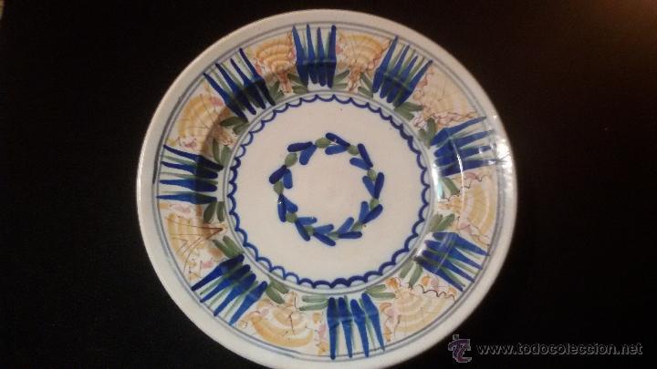 ANTIGUO GRAN PLATO SIGLO XIX CERAMICA 32 CM . PERFECTO ESTADO PRECIO: 250,00 € (Antigüedades - Porcelanas y Cerámicas - Manises)