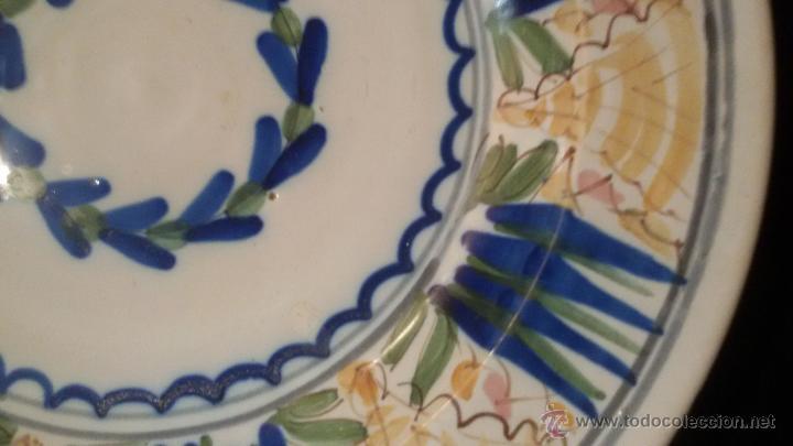 Antigüedades: ANTIGUO GRAN PLATO SIGLO XIX CERAMICA 32 cm . PERFECTO ESTADO Precio: 250,00 € - Foto 3 - 54835224