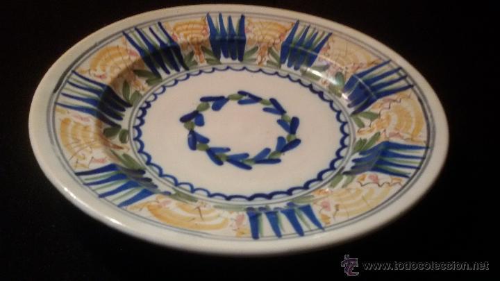 Antigüedades: ANTIGUO GRAN PLATO SIGLO XIX CERAMICA 32 cm . PERFECTO ESTADO Precio: 250,00 € - Foto 4 - 54835224