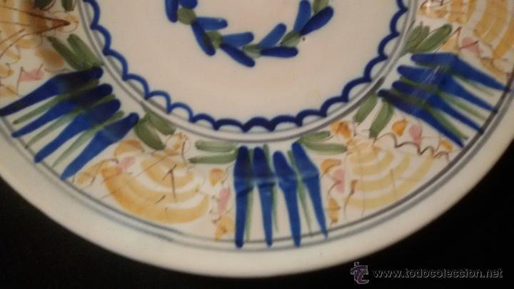Antigüedades: ANTIGUO GRAN PLATO SIGLO XIX CERAMICA 32 cm . PERFECTO ESTADO Precio: 250,00 € - Foto 5 - 54835224